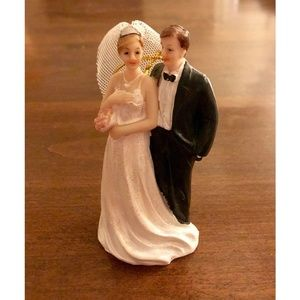 Other - Retro Style Bride and Groom Ornament/Cake Topper